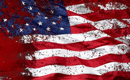 blood-splattered-american-flag