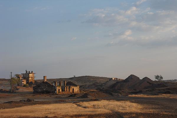 Achada do Gamo do complexo mineiro das Minas de São Domingos, Mértola . imagem © 2013 S.E.I.P.